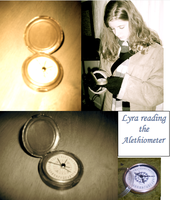 Lyra and the alethiometer by Valethia