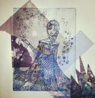 Elsa  Mixed Media by nataliebeth