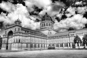Carlton Exhibition Building BW by DanielleMiner
