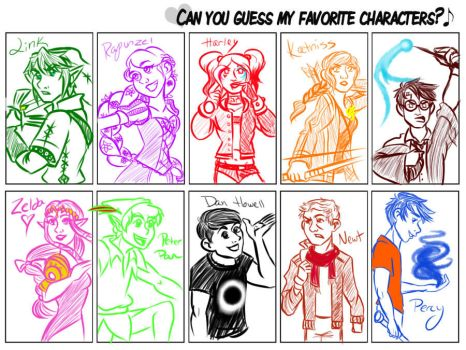 Fav Character Meme by TriGod-AlliKat