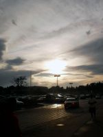 Parking Lot Sunset by citynetter