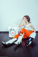 Chell and Friend by AGflower