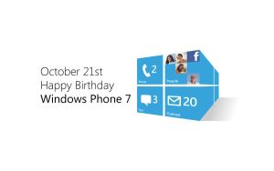 Windows Phone 7 Birthday by mymicrosoftlife