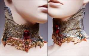 Indian boho collar by Pinkabsinthe