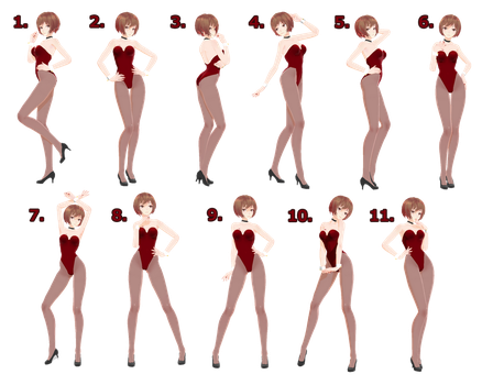 [MMD] Pose Pack 3 - DL by Snorlaxin
