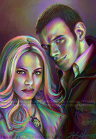 Rosalie and Emmett for Monica by ChibiSofa