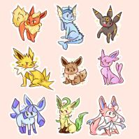 EEveelutions! by pomifumi