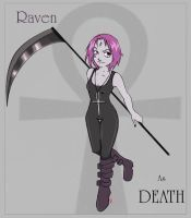 Raven as Death by channahcrux-of-dream