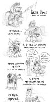 Ponyhammer Races - Sketches by Sanity-X