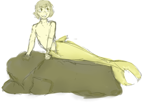 Nathan - Merboy sketch~! by TheEmmy4501