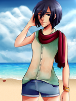 Mikasa Ackerman - summer time! by vaniaelee