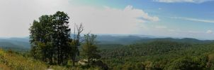 Shenendoah Mountains Panorama by FoxMcCarther