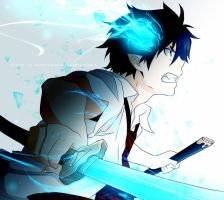 rin okumura blue exorcist by coralsnowcandy