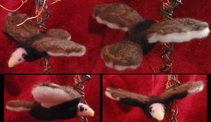 Felted Flying Turkey Vulture Custom by DancingVulture