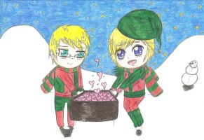 aph: Santa's Elves bring love by LoveEmerald