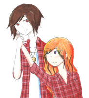 Red Plaid Shirts by Cursestein