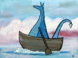 Dragon's Rowboat by andralynn