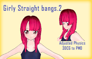 MMD- Girly Straight Bangs.2 -DL by MMDFakewings18