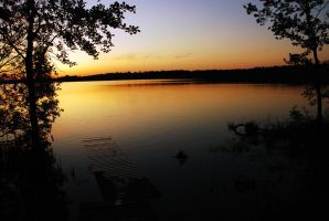 Lake sunset by KNL