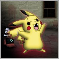 Bad Pikachu The Monster by oronk