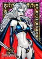 LADY DEATH AE SKETCH CARD by AHochrein2010