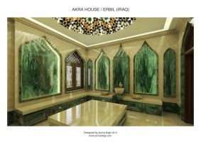 Akra House - Turkish Bath (Hamam) 1 by Semsa