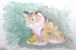 Triadic Tiger by Doodlee-a