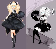 48hrs AUCTION Adopt: Blonde Blackcat [CLOSED!] by ZenithOmocha