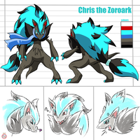 CM: Chris the Zoroark reference sheet by shadowhatesomochao
