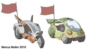 Tortoise and Hare Vehicles by marcusmuller
