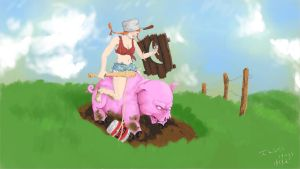 Hillbilly Sejuani by ILIKEHUGSS