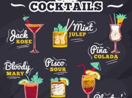 Creative-blackboard-Cocktail by vectorbackgrounds