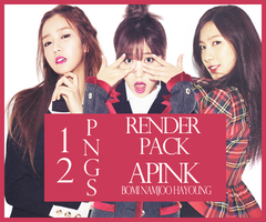 Render Pack 13 - Bomi Namjoo Hayoung (APink) by Starphine