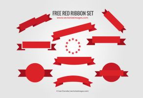 Free Red Ribbon Set by AlsusArt