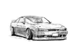 Nissan S14 by Kapcer Mamcarczyk by KacperMamcarcyzk