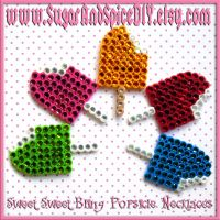 Rhinestone Popsicle Necklaces by SugarAndSpiceDIY