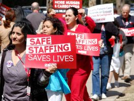Nurses Rally at RUMC (1) by TAGFoto