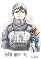 My OC The Police Bomb disposal by Kumsmkii
