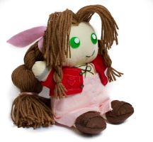 Aerith Plushie Commish side by theaquallama
