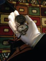 Gloves and pocket watch (Open) by MayaAtMidnight