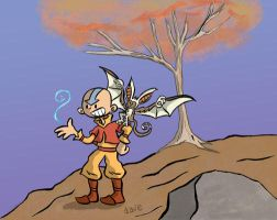 Aang and the lamest tree ever by yaytime