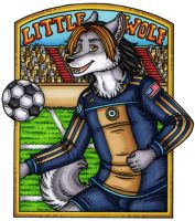 Little Wolf Conbadge by kalika-futago