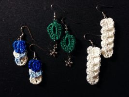 Cascading Petals and Single Petal Earrings by MidknightStarr