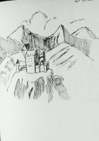 A Castle in the Mountains by AceOfKeys72
