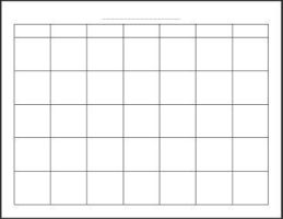 Blank Monthly Calender by Writer-Colorer