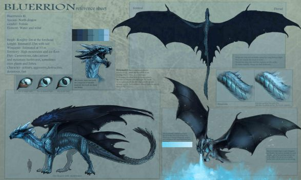 Bluerrion- new reference sheet by Allagar