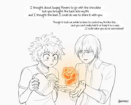 [Tododeku] Should I make an ice one instead? WIP by whymeiy