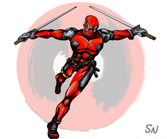 Deadpool Lunge by AdaptableSimon