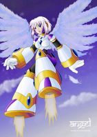 Collab: Angel has pretty wings by SLiDER-chan
