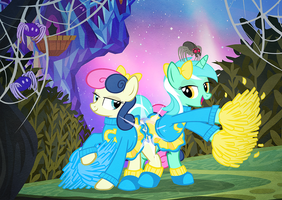 Lyra and Bon Bon Nightmare Night 2015 by PixelKitties